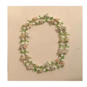 pastel flowers beaded necklace